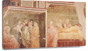 Lienzo Birth and Naming of the Baptist